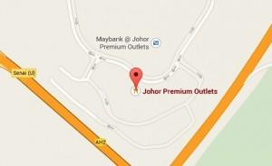 Minibus Johor Premium Outlets Map
